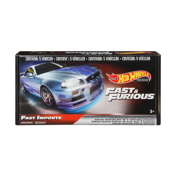 HOT WHEELS FAST & FURIOUS FAST IMPORTS LIMITED EDITION 5-CAR PREMIUM SET