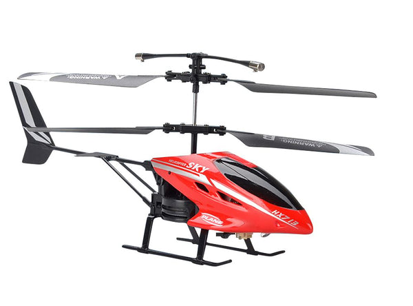 HX713 2 CHANNEL REMOTE CONTROL HELICOPTER RED/BLACK