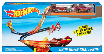 Hot Wheels Race N Rally Playset Drop Down Challenge - Toyworld