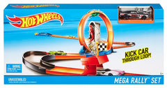 HOT WHEELS RACE N RALLY PLAYSET MEGA RALLY SET