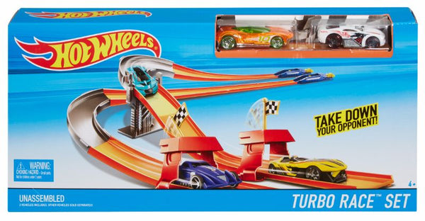 Hot Wheels Race N Rally Playset Turbo Race Set - Toyworld