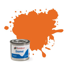Humbrol Enamel Paint Orange Gloss - Toyworld