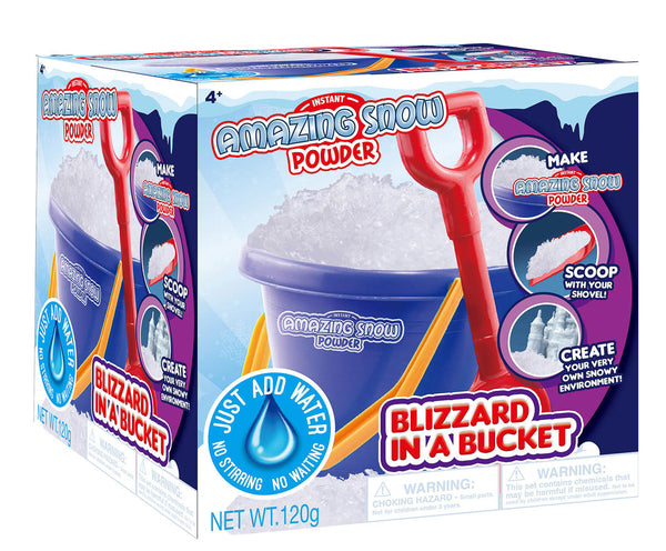 INSTANT AMAZING SNOW POWDER BLIZZARD IN A BUCKET