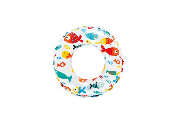 INTEX 59241 24 INCH(60CM) LIVELY PRINT SWIM RINGS ASSORTED STYLES