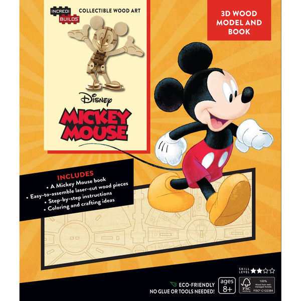 INCREDIBUILDS 3D WOODEN MODEL DISNEY MICKEY MOUSE