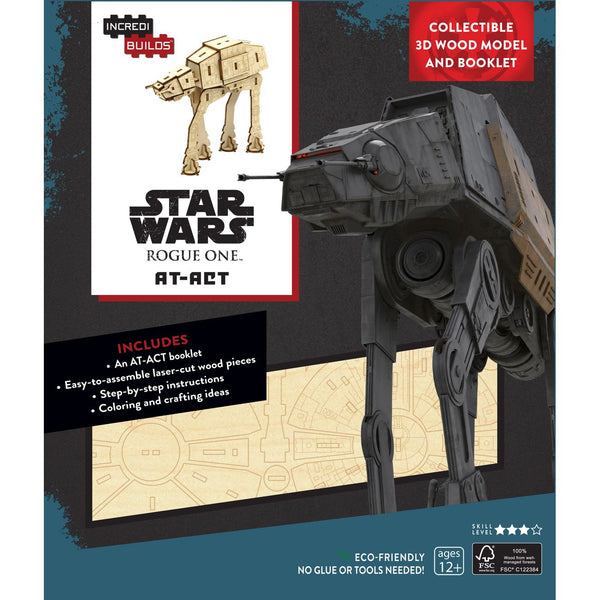 Incredibuilds 3d Wooden Model Star Wars At Act - Toyworld