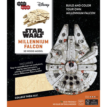 Incredibuilds 3d Wooden Model Star Wars Millennium Falcon - Toyworld