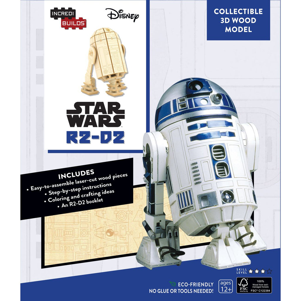 INCREDIBUILDS 3D WOODEN MODEL STAR WARS R2-D2