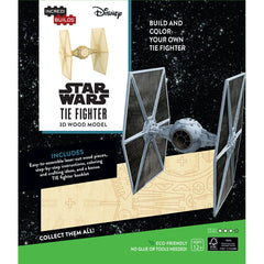 INCREDIBUILDS 3D WOODEN MODEL STAR WARS TIE FIGHTER