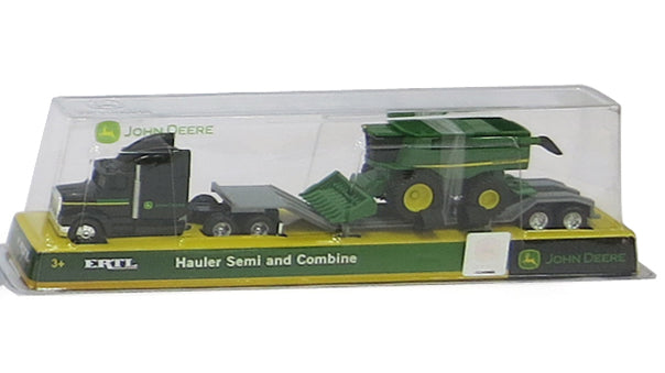 John Deere Black Hauler Semi and Combine - Toyworld