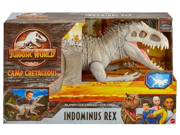 JURASSIC WORLD CAMP CRETACEOUS SUPER COLOSSAL INDOMINUS REX