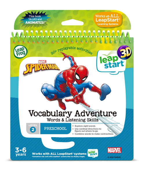 Leapfrog Leapstart 3d Marvel Spiderman Vocabulary Adventure Activity Book - Toyworld