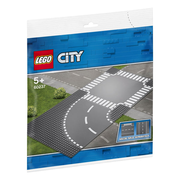 Lego City Curve and Crossroad Plate - Toyworld