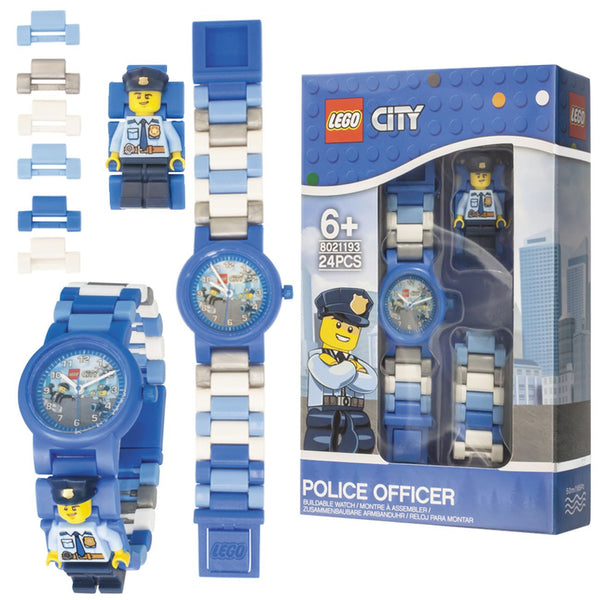 LEGO CITY POLICE OFFICER BUILDABLE WATCH W/MINIFIGURE