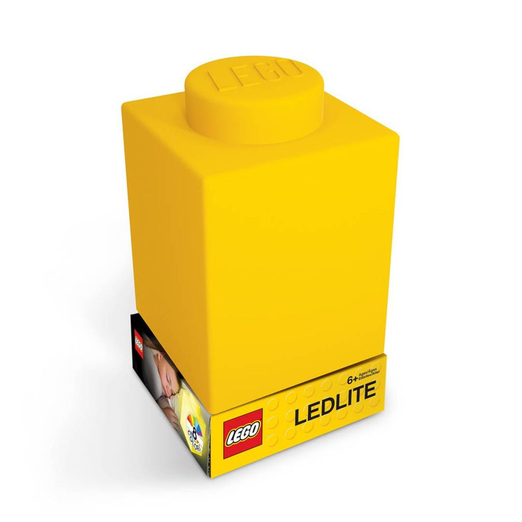 Lego Silicone Nitelite Brick Yellow - Toyworld
