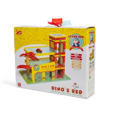 Le Toy Van Dino's Red Garage Img 4 - Toyworld