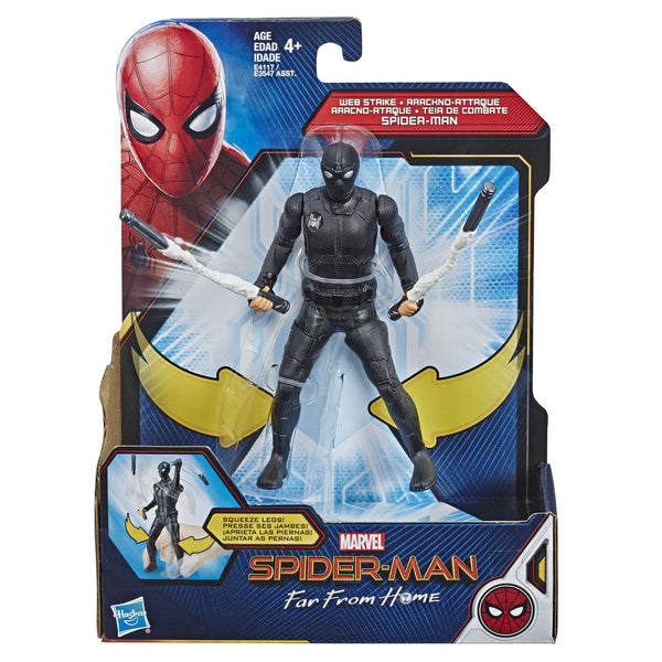 "MARVEL SPIDERMAN FAR FROM HOME 6"" FIGURE WEB STRIKE SPIDERMAN"