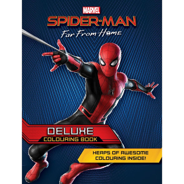 MARVEL SPIDERMAN FAR FROM HOME DELUXE COLOURING BOOK