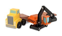 M&D CLASSIC TOY TRAILER & EXCAVATOR