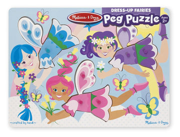 MELISSA & DOUG CLASSIC PEG PUZZLE DRESS-UP FAIRIES - Toyworld NZ