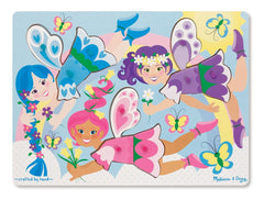 MELISSA & DOUG CLASSIC PEG PUZZLE DRESS-UP FAIRIES