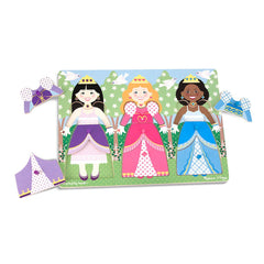 MELISSA & DOUG CLASSIC PEG PUZZLE DRESS-UP PRINCESSES