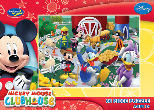 DISNEY MICKEY MOUSE CLUBHOUSE 60PC BOXED PUZZLE OUR FARMYARD FRIENDS