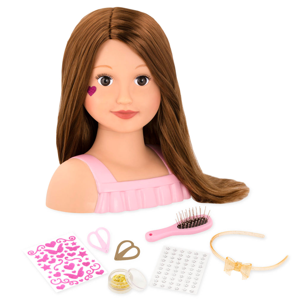 OUR GENERATION DOLL BUST BRUNETTE TALIA