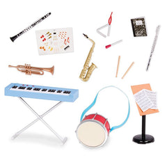 OUR GENERATION ACCESSORY SET SCHOOL BAND PLAY SET