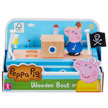 Peppa Pig Wooden Play Boat - Toyworld