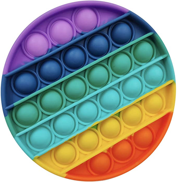 POPIT FIDGET TOY CIRCLE RAINBOW
