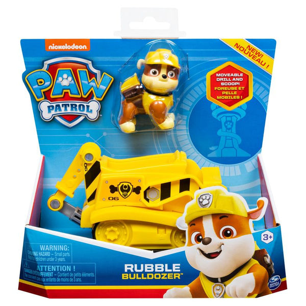 Paw Patrol Basic Vehicle Rubble Bulldozer - Toyworld