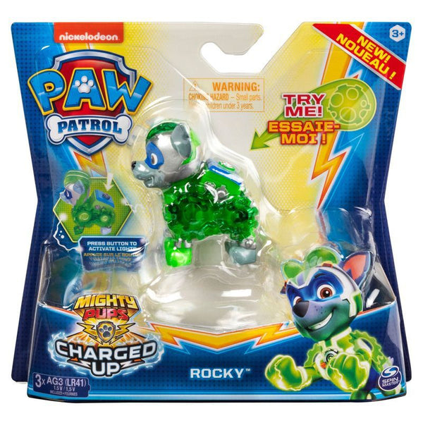 Paw Patrol Hero Action Pup Charged Up Rocky - Toyworld