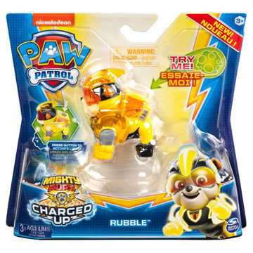 Paw Patrol Hero Action Pup Charged Up Rubble - Toyworld