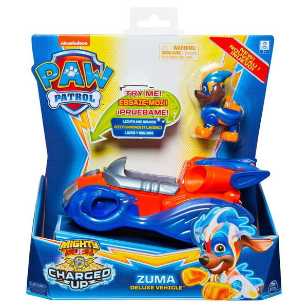Paw Patrol Mighty Pups Charged Up Themed Vehicle Zuma Deluxe Vehicle - Toyworld