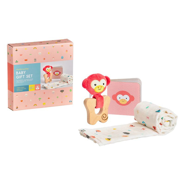 PETIT COLLAGE CHEEKY MONKEY BABY GIFT SET