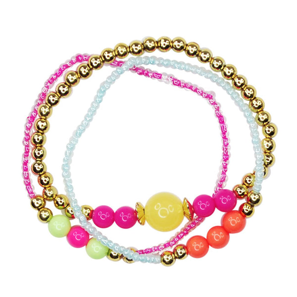 PINK POPPY SET OF 3 FESTIVAL BRACELETS