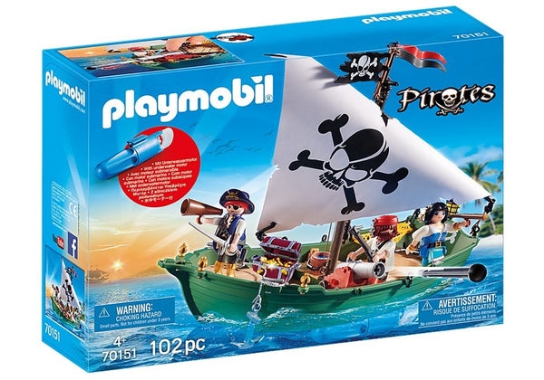 PLAYMOBIL 70151 PIRATES PIRATE SHIP WITH UNDERWATER MOTOR