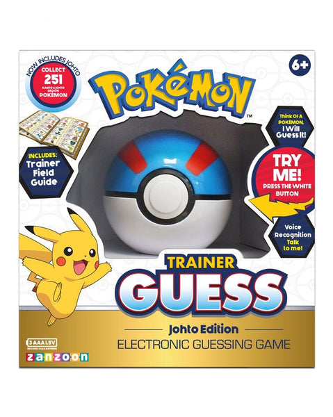 Pokemon Trainer Guess Electronic Guessing Game Johto Edition - Toyworld
