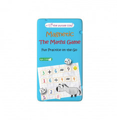 PURPLE COW MAGNETIC TRAVEL GAME THE MATHS GAME