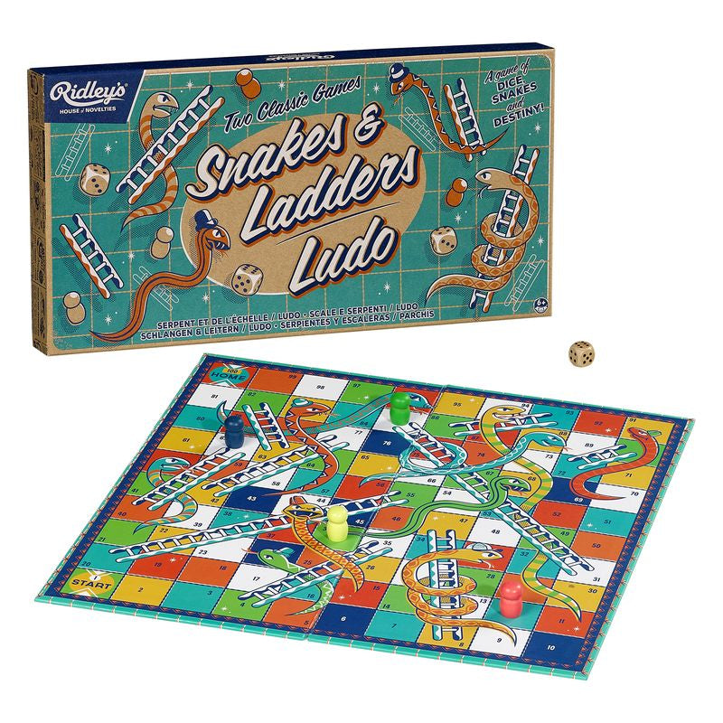 Ridley's Snakes & Ladders and Ludo Game Set - Toyworld