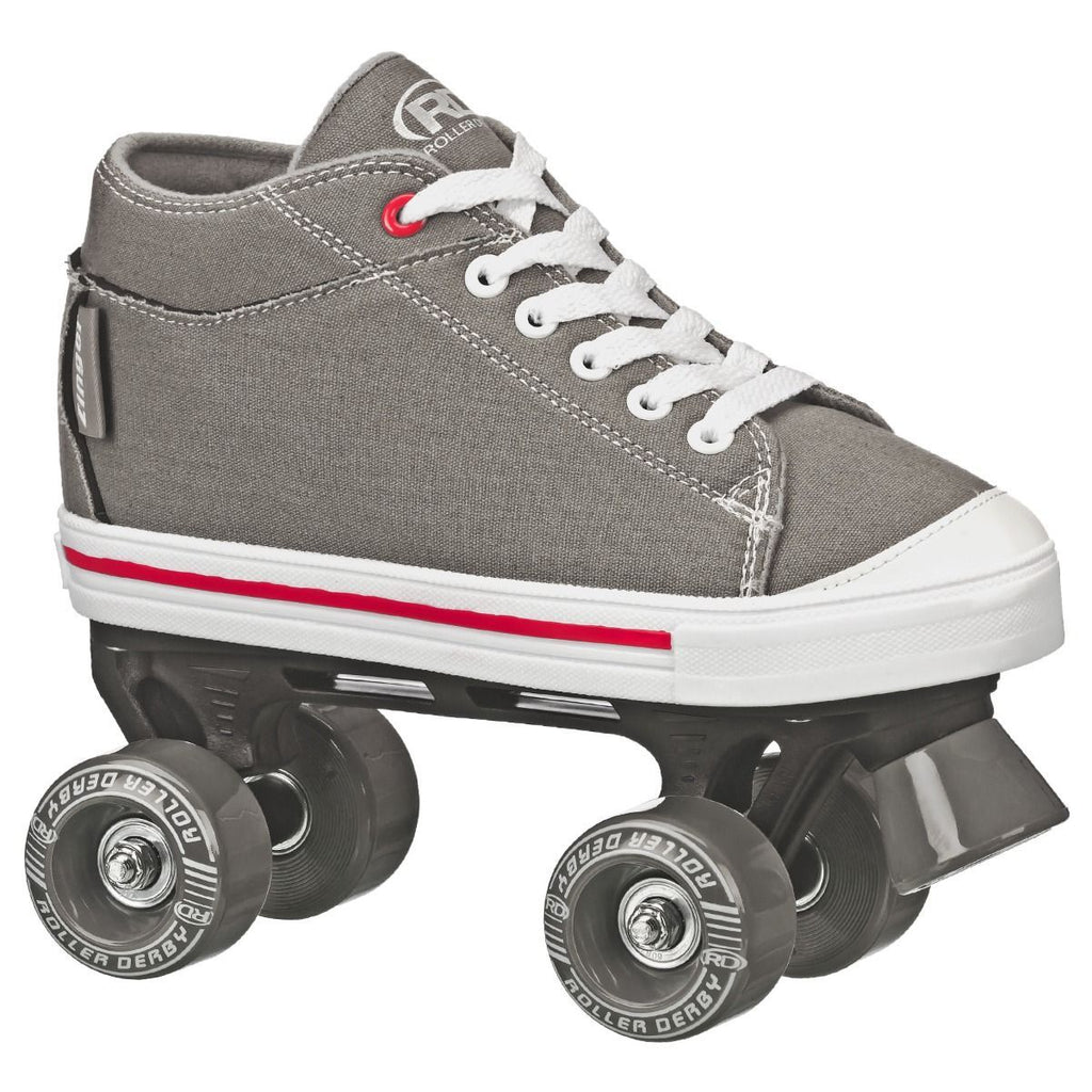 Roller Derby Zinger Grey Skates Size 2 - Toyworld