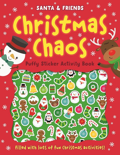 SANTA & FRIENDS CHRISTMAS CHAOS PUFFY STICKER ACTIVITY BOOK