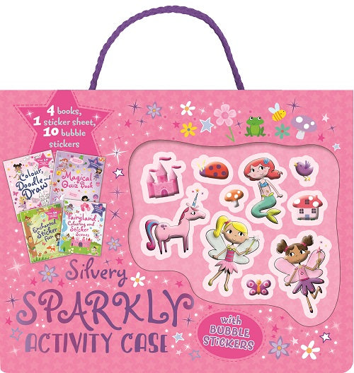 SILVERY SPARKLY ACTIVITY CASE
