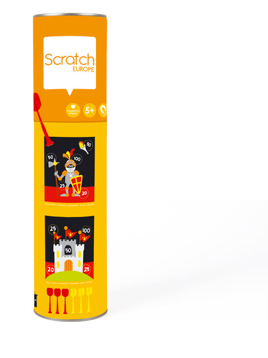 Scratch Darts 2 Sided Magnetic Dart Board Knight - Toyworld