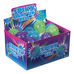 SPIKY LIGHT UP BALL ASSORTED STYLES