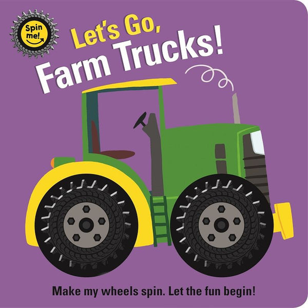 SPIN ME BOARD BOOK LET'S GO FARM TRUCKS