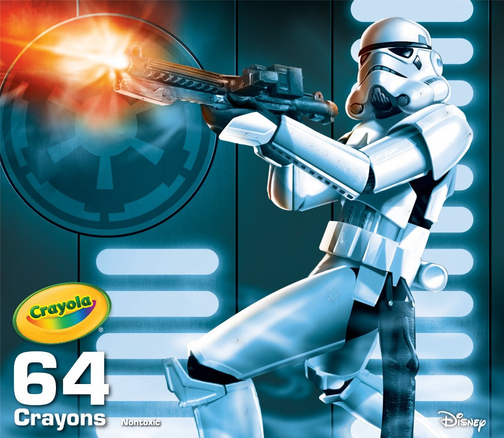 CRAYOLA SW STORMTROOPER 64 CRAYON COLLECTIBLE TIN