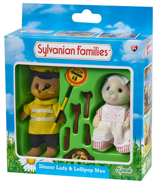 Sylvanian Families Dinner Lady & Lollipop Man - Toyworld