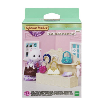 Sylvanian Families Town Fashion Showcase Set W/Handbags - Toyworld